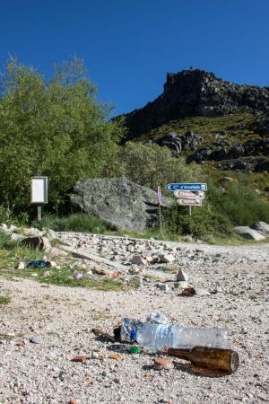 Lixo na Serra da Estrela